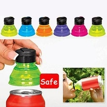 Creative Can Convert Soda Savers Tops Snap On Pop Cold Beverage Can Bottle Caps colour one size