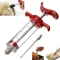 Hot BBQ Marinade Injector Flavor Syringe Cook Meat Poultry Smoker Turkey Chicken white one size