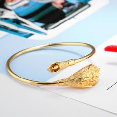 Fashion Personality Classic Jingle Flower Plated 18K gold Morning Glory Bracelet gold one size