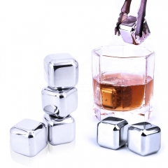Food Stainless Steel Whiskey Ice Wine Stone Drink Red Wine wine Ice Grain Ice Cubes 1 set one size