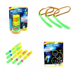 Catapult Flying Arrow Lighting Toy Mini Launcher Fluorescent Bamboo Dragonfly Catapult color one size