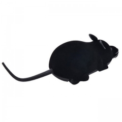 False Mouse Mice Toy Cat Toy Wireless Remote Control Simulation Plush Mouse Electronic RC Rat Mice black one size