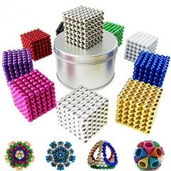 216pcs 5mm Neodymium Magnetic Magic Cube Balls Spheres Beads Magnet Blocks Puzzle Rare red one size
