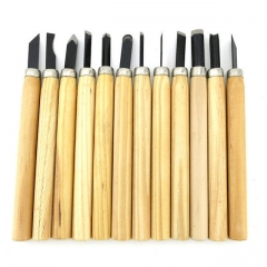 Lot Woodcut Scorper Hand Wood Carving Engraving Knife Tool Carving Knife Carved Wooden Cutter 12 sets one size