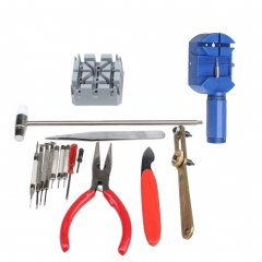 16 Pieces Repair Table Tool Suit Watch Change Battery Tool DIY Repair Table Combination Suit 16 sets one size