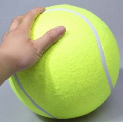 Big Tennis Signature 24cm Inflatable Tennis Festival Activity gift Pet tennis Bite toy green one size