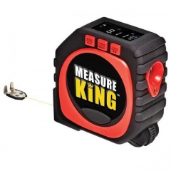3-in-1 Digital Tape Measure String Mode Sonic Mode and Roller Mode Universal Measuring Tool black one size