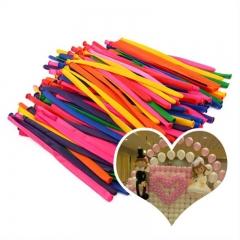 Long Strip Latex Magic Balloons DIY Modeling Ballons Wedding Birthday Party Decorations color 100 sets