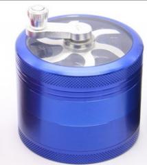 4th floor metal Hand shake Smoke machine 55mm Zinc alloy handle Smoke machine Cigarette breaker blue one size