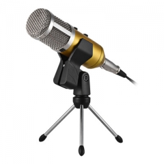 USB capacitance microphone The internet K song computer microphone K song gold 5w one size