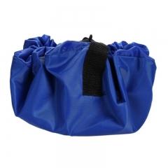 Kids Toy Storage Bag and Play Mat Lego Toys Organizer Bin Box XL Fashion Practical Storage Bags blue one size