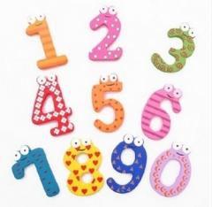 Kids Children Wooden Refrigerator Toy kids gift Digital magnetic toy fridge Digital magnet toy gift 10pcs one size