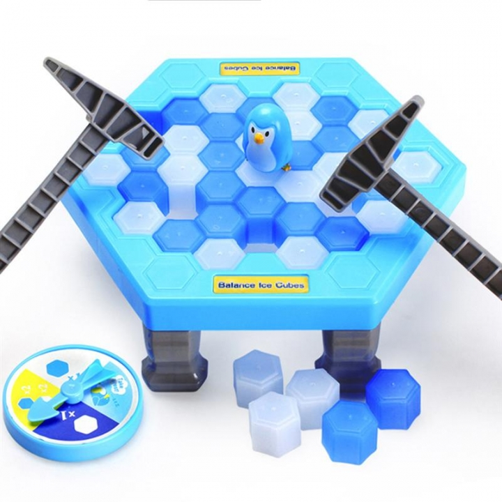 Save Penguin Icebreaker Demolition Wall Chisel Ice Toy Desktop Game Beat Penguin Toys For Children blue one size