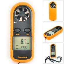 GM816 Digital Anemometer Wind Speed Meter  Air Guage Temperature LCD Backlight Display