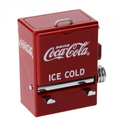 Personality Creative Retro Cola automatic vending machine modeling Press Toothpick Holder red one size