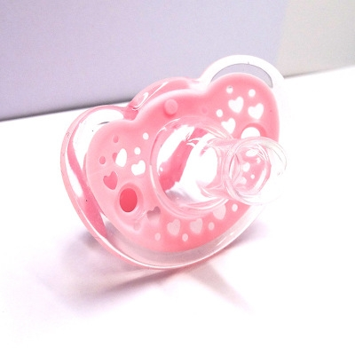 Newborn Silica gel package Round head comfort Pacifier Sleep peacefully Type of mouth red one size