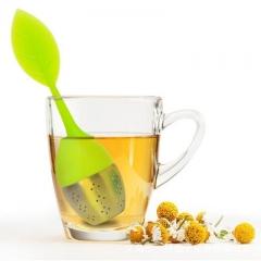 Food grade leaf Silica gel Tea bag Tea maker Tea ball Tea leak filter green one size
