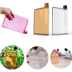 A5 Memobottle Clear Book Portable Paper Pad Water Bottle Flat Drinks Cup Kettle random color one size
