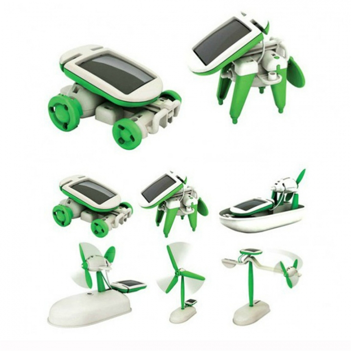 Learning Power Solar Robot Kit Toy Transformation Robot DIY Toy Science Kit For Kid Birthday green one size