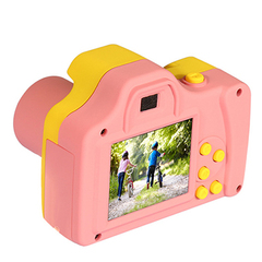 Multifunction LSR Cam Digital Camera for kids Baby Cute Cartoon Toy Camera DV pink one size
