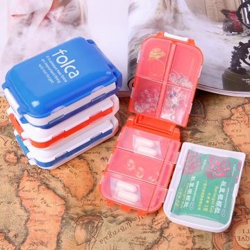 1 Pcs Plastic Folding Pill Box Case 7 Days Travel Vitamin Organizer
