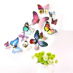 12PCS  3D Butterfly Wall Stickers Home Decor for Fridge Kitchen Room Living Roo multicolor 12pcs