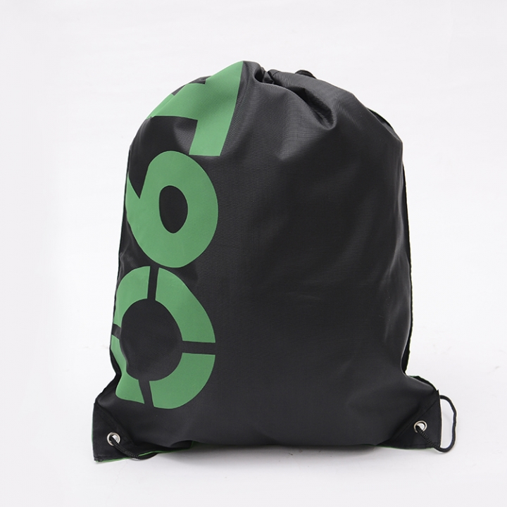 1 Piece Drawstring Backpack Bags for Outdoor Activities(Letter Pattern) black 41*34cm