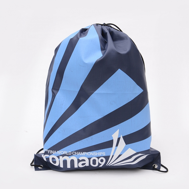 1 Piece Drawstring Backpack Bags for Outdoor Activities(Geometric Pattern ) blue 41*34 cm