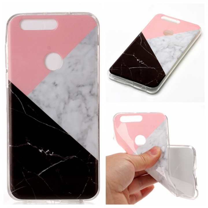 official photos c4517 97ed7 Huawei Honor 8 Case Marble,[Ultra-Thin] Flexible Soft TPU Gel Silicone Cove  Case (Pink/white) For Huawei Honor 8