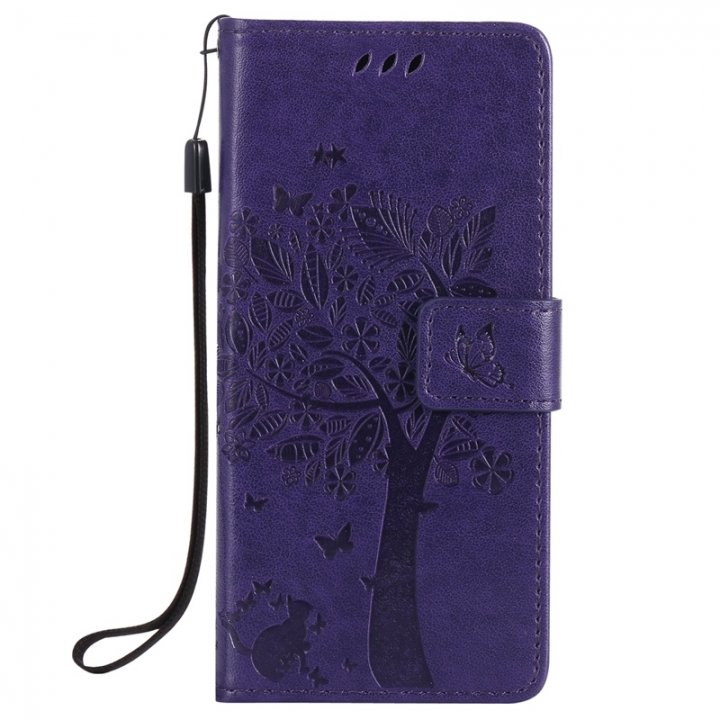 huge selection of 33715 0728b Sony Xperia E5 Case,Premium PU Leather Flip Wallet Case Cover (purple) For  Sony Xperia E5