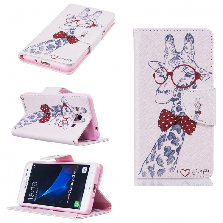 Samsung Galaxy J3 Pro Case,PU Leather Wallet Flip Phone Case Cover with Stand Card