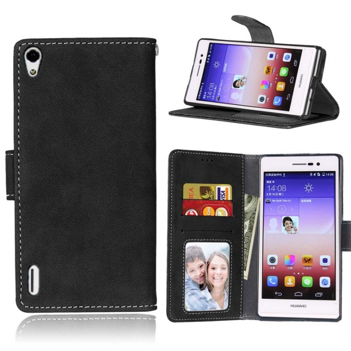 Huawei Ascend P7 Case,Pattern Premium PU Leather Wallet [Card/Cash Slots]