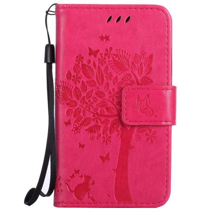 Microsoft Lumia 435 Case,Premium PU Leather Flip Wallet Case Cover (orange) For