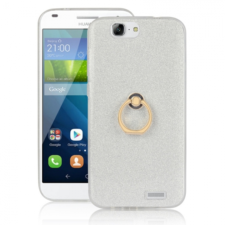 timeless design e57d1 86af3 Huawei Ascend G7 Case,Bumper Sparkle Flexible TPU Silicone Soft Case  (White) For Huawei Ascend G7