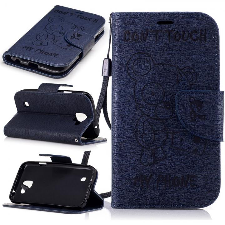 low priced 51872 cfe0f LG K3 2017[Not fit LG K3] Case,Wallet Folio Wrist Strap Case (Deep blue)  For LG K3 2017