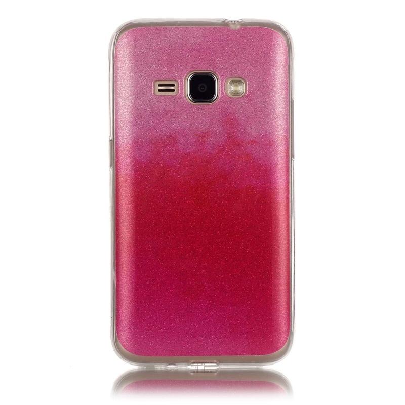 Galaxy J1 2016/Amp 2/Express 3 Case,Ultra Thin Fashion Gradient Flash  Powder Soft Silicone TPU (pattern 1) For Samsung Galaxy J1 2016/Amp  2/Express 3