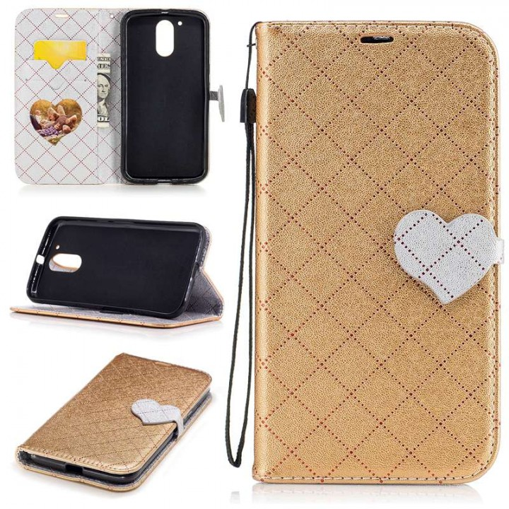 separation shoes 2a222 ad356 Motorola Moto G4/G4 Plus Case,PU Leather Wallet Flip Phone Case Cover with  Card Slot (Gold) For Moto G4/G4 Plus