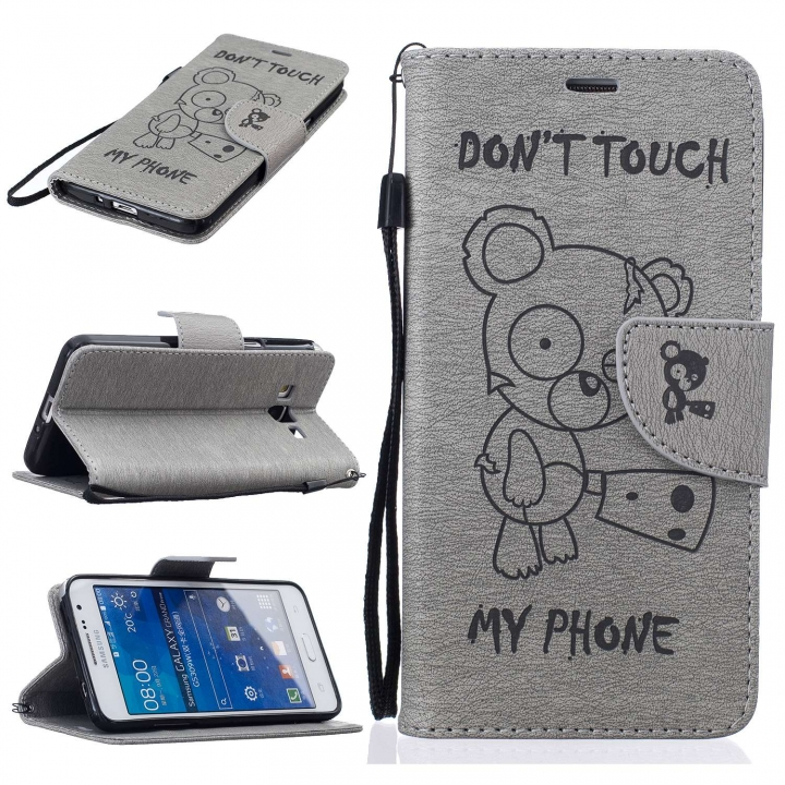Samsung Galaxy G530 Case,PU Leather Flip Wallet Protective Case With Lanyard/Card Slot