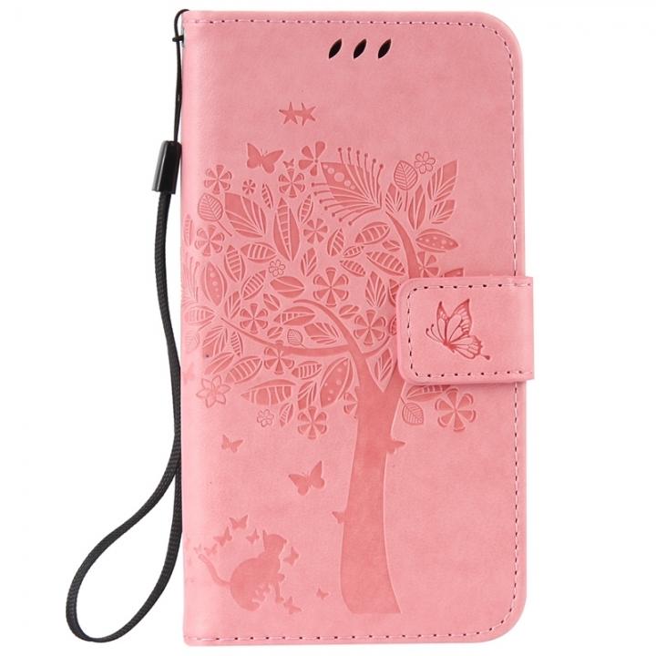 Samsung Galaxy J3 Pro Case,Premium PU Leather Flip Wallet Case Cover (pink)