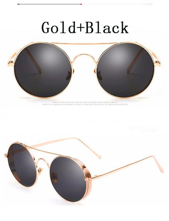 f651202b1 Round Sunglasses Women Brand Designer Metal Steampunk Sun Glasses Men Retro Female  Mirrored Eyewear c1 sunglasses