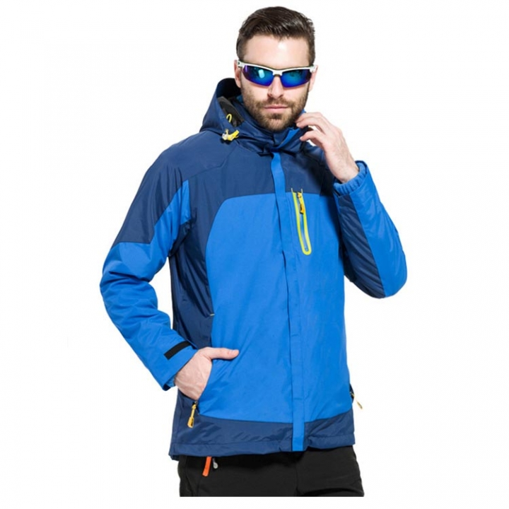Outdoor Hiking Mountain Climbing Ski Jackets Men Winter Waterproof Warm Fleece Jacket Windproof Hooded Sport Coats