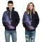 Starry sky Design 3D Digital Printed Hooded fleece  Jacket Fashion  for Women and Men Hooded fleece colorful s/m