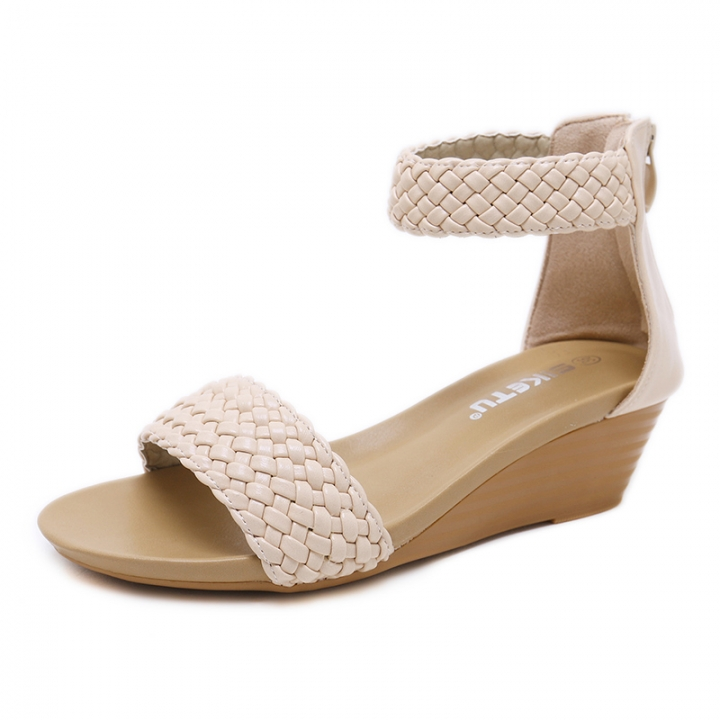 3198598f5163 Fashion Soft And Comfortable Women s Shoes Sandals Knitted Style apricot 35