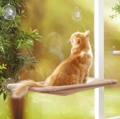 Cute Pet Hanging Beds Bearing Sunny Seat Window Mount Pet Cat Hammock Comfortable Cat Pet Bed