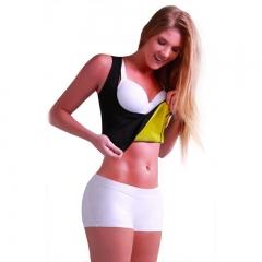 Women Vest Body-building Body Breast Body Shaper Shapers Chest Abdomen Waist BLACK S