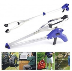 Foldable Clamp Suction Cup Claw Hand Plier Pick Up Grabber Garbage Clip Pickup Device