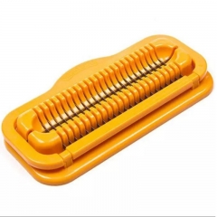 Practial Sausage Slicer Creative Hot Dog Dicer Cutter Crusher Chopper Creative Tools yellow one-size