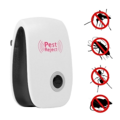 Multifunctional Ultrasonic Electronic Mosquito Repellent Device white one size