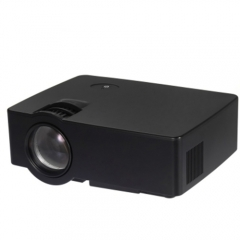 E08 LCD Projector 1500 Lumens 800 x 480 Pixels 1080P Home Theater with Airplay Miracast black one size
