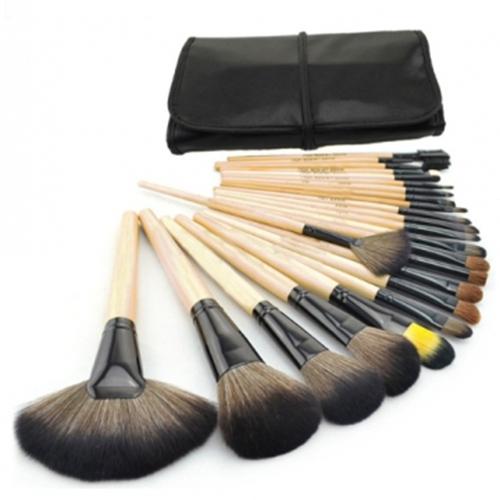 Professional 24 pcs Makeup Brush Set tools Toiletry Kit Wool Brand Make Up Brush Set burlywood burlywood